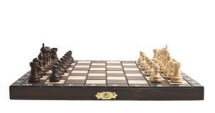Xadrez na placa de xadrez Imagens de Stock Royalty Free