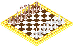Xadrez na placa de xadrez Ilustração Royalty Free