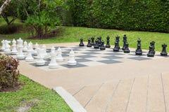 Xadrez no jardim Imagens de Stock