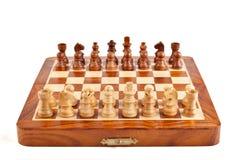 Xadrez no tabuleiro de xadrez imagem de stock