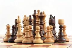 Xadrez no tabuleiro de xadrez fotos de stock royalty free