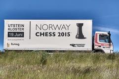 Xadrez Noruega imagens de stock