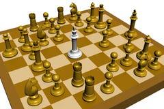 A xadrez perde Fotografia de Stock