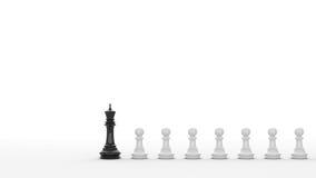 Xadrez preta Fotografia de Stock Royalty Free