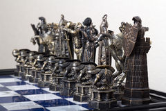 Xadrez preta na placa Imagem de Stock