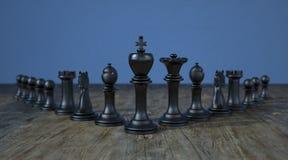 A xadrez preta penhora a lideran?a ilustração royalty free