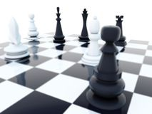 Xadrez preto e branco ilustração stock