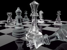 Xadrez preto e branco Imagem de Stock