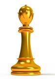 Xadrez, rainha dourada ilustração stock