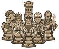 Xadrez Team White ilustração stock
