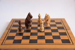 Xadrez, um jogo estratégico da conquista Fotografia de Stock