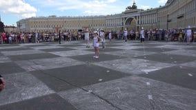 Xadrez viva O quadrado do palácio St Petersburg 4K filme