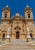Xaghra Parish Church. Dedicated to Our Lady of Victories in Gozo, Malta Stock Photo