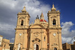 Xaghra Parish Church, Malta Stock Photography