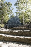 Xaibe pyramid in Coba, Mexico Royalty Free Stock Photography