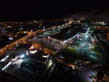 Xalapa,韦拉克鲁斯在晚上 Las生命Ã ¡ rea 库存照片
