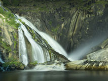 Xallas Waterfall in Ezaro at night Royalty Free Stock Photo