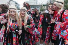 Xanthi Carnival Parade Stock Photo