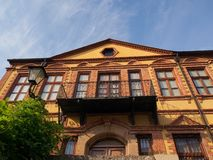 Xanthi Folk museumbyggnad Arkivfoto