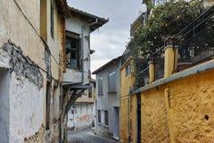 XANTHI GRECJA, WRZESIEŃ, - 23, 2017: Typowa ulica i stary dom w starym miasteczku Xanthi, Wschodni Macedonia i Thrace, Obrazy Stock