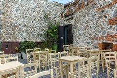 XANTHI GRECJA, WRZESIEŃ, - 23, 2017: Typowa ulica i stary dom w starym miasteczku Xanthi, Wschodni Macedonia i Thrace, Fotografia Stock