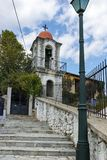 XANTHI, GREECE - SEPTEMBER 23, 2017: Stone orthodox church town of Xanthi, East Macedonia and Thrace, Greece Stock Images