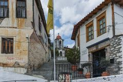 XANTHI, GREECE - SEPTEMBER 23, 2017: Stone orthodox church town of Xanthi, East Macedonia and Thrace, Greece Stock Image