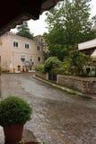 Xanthi old town. Street home Royalty Free Stock Photo