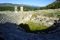 Xanthos废墟,土耳其 免版税图库摄影