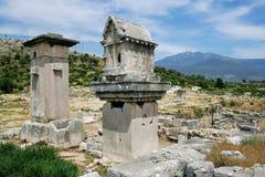Xanthos废墟  免版税库存照片