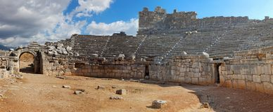 Xanthos-Ruinen, Fethiye-Kas, die Türkei stockfotos