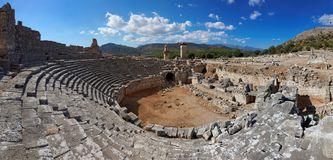 Xanthos Ruins, Fethiye-Kas, Turkey Stock Photography