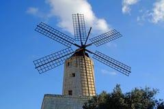 Xarollawindmolen, Malta Stock Foto