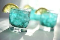 Xarope da hortelã com um limão e um gelo Imagens de Stock Royalty Free