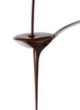 Xarope de chocolate Imagens de Stock