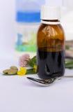 Xarope homeopaticamente da amamentação Fotografia de Stock