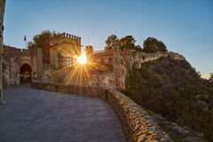 Xativa Castle at Sunset, Valencia Region of Spain. Historical Xativa Castle at Sunset, Valencia Region of Spain Royalty Free Stock Photo