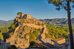 Xativa Castle at Sunset, Valencia Region of Spain. Historical Xativa Castle at Sunset, Valencia Region of Spain Stock Photography