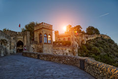 Xativa Castle at Sunset, Valencia Region of Spain. Historical Xativa Castle at Sunset, Valencia Region of Spain Stock Images