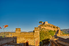 Xativa Castle at Sunset, Valencia Region of Spain. Historical Xativa Castle at Sunset, Valencia Region of Spain Royalty Free Stock Image