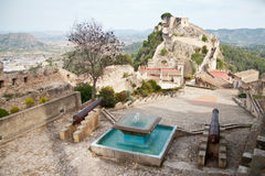 Xativa Castle, Valencia, Spain Stock Images