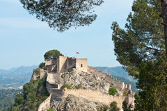 Xativa Castle, Valencia, Spain Stock Image