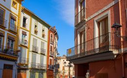 Xativa-Piazza Mercat-Quadrat in Valencia auch Jativa lizenzfreies stockfoto
