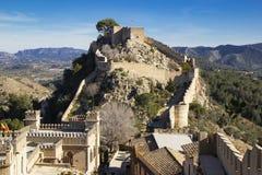 Xativa slott, Valencia, royaltyfri bild