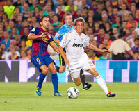 Xavi and Coentrao Stock Image