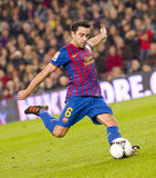 Xavi Hernandez in action Royalty Free Stock Images