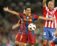 Xavi Hernandez of Barcelona Stock Photo