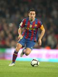 Xavi Hernandez of FC Barcelona. Xavi Hernandez of Barcelona in action during a Spanish League match between FC Barcelona and RC Deportivo at the Nou Camp Stadium Royalty Free Stock Images