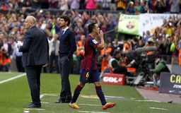 Xavi Hernandez FC Barcelone v La Corogne Liga - Espagne Royalty Free Stock Photo