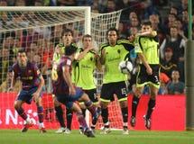Xavi Hernandez free kick Stock Image